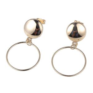 Circular Button drop Stud Earrings