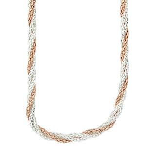 <p>Twisted Rose gold plate & Sterling Silver Necklace</p>