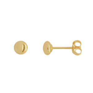 <p>4mm Flat Stud Earrings</p>