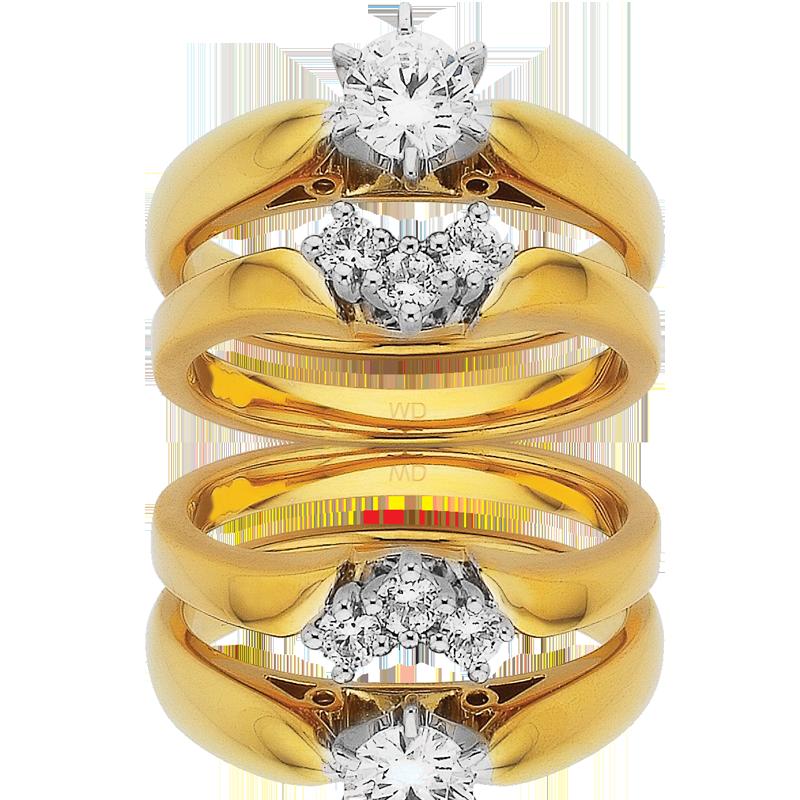 Diamond Engagement Ring – DD303W/50 & DD350W