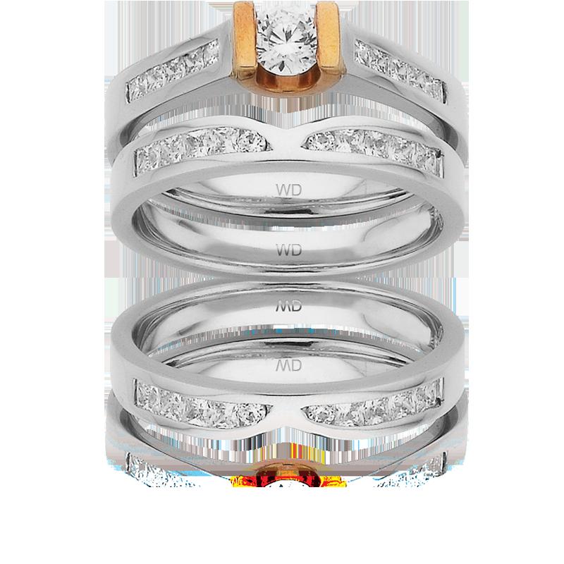 Diamond Engagement Ring – DD404W & DD412