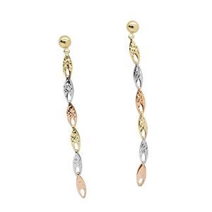 9 Carat Tri-Gold Earrings