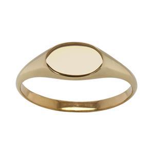 <p>Horizontal Oval Signet Ring</p>