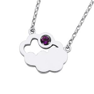 <p>&nbsp;CUMULUS NECKLACE WITH AMETHYST</p>