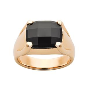 <p>Chequerboard Ring with 12X10MM onyx</p>