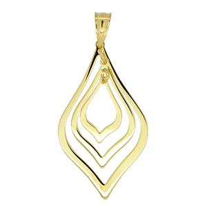 <p>9ct & Sterling Silver Bonded Pendant</p>