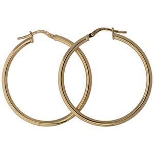 9ct silver filled 9Y Earrings, 30mm diameter & 2mm width