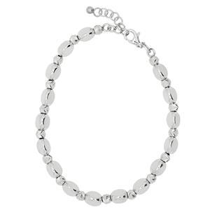 Rhodium Plated Bead Bracelet