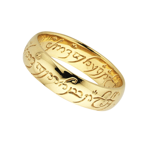 <p>The One Ring as seen in <i>The Lord of the Rings</i> movies. Comes with the Official Lord of the Rings pouch and translation card.</p>