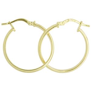 9ct silver filled 9Y Earrings, 20mm diameter & 2.5mm width