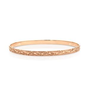 <p>Machine Engaved Patterned Bangle. Approx 1.25mm Thick.</p>