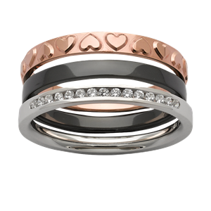 <p>Stacker rings available in white gold, zirconium and rose gold.</p>