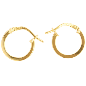 <p>9ct yellow gold Silver Filled Hoop Earrings</p> <p>Measures 10mm across by 1.5mm wide</p>